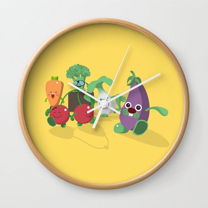 EAT VEGGIES Wall Clock