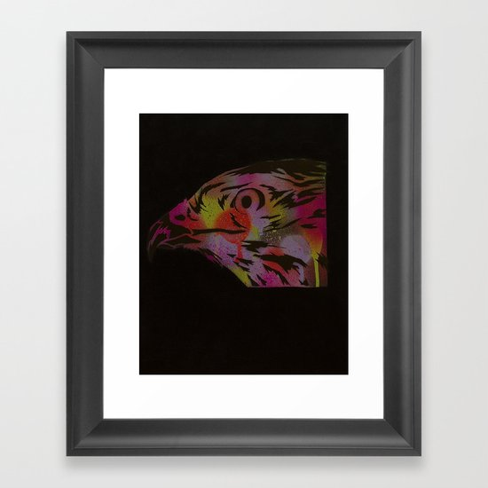 Neon Hawk 1 of 2 Framed Art Print