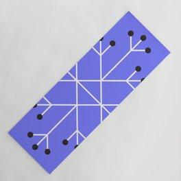 Mod Snowflake Purple Yoga Mat