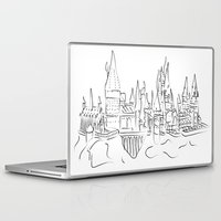 hogwarts Laptop & iPad Skins featuring Hogwarts Castle by Jessica Slater Design & Illustration