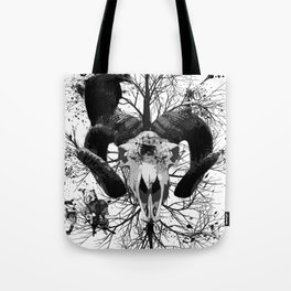Wings and Horns of Death Tote Bag