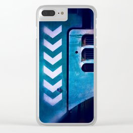 Road Roller Chevron 04 - Industrial Abstract (everyday 20.01.2017) Clear iPhone Case