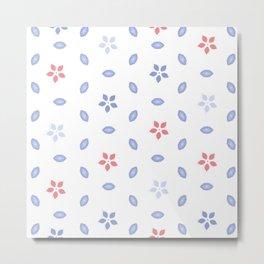Pastel color Multi pattern design Metal Print