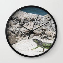 Key West Iguana Wall Clock