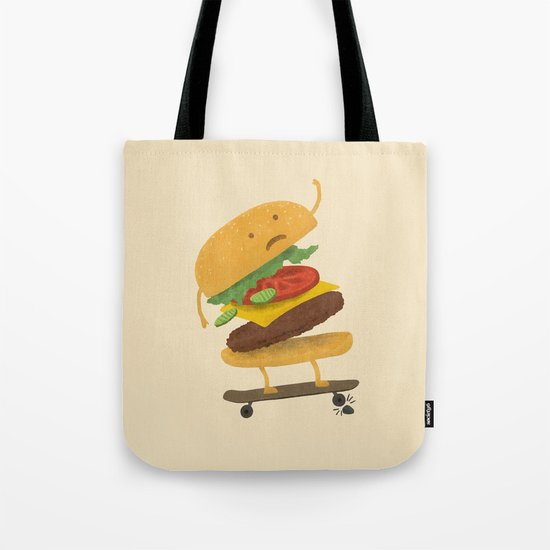 Burger Wipe-out  Tote Bag