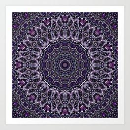 Purple, Gray, and Black Kaleidoscope 2 Art Print