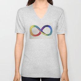 Neurodiversity symbol 1 Unisex V-Neck