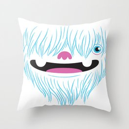 Happy Yeti Throw Pillow