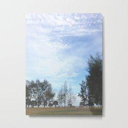 Grainy Islet Sky Metal Print