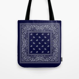 Bandana - Navy Blue - Southwestern Tote Bag