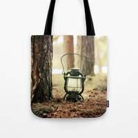 camping Tote Bags featuring camping by katelyndee