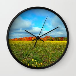 Autumn's Contrasts Wall Clock