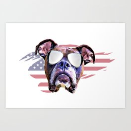 American Boxer dog Art Print