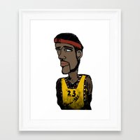 basketball Framed Art Prints featuring Basketball  by JBLITTLEMONSTERS
