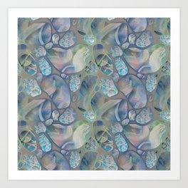 digital stones Art Print