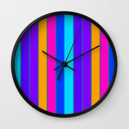 sTRIPES Colorful  Wall Clock