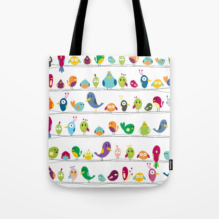 the birds are sitting and gazing... Tote Bag