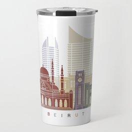 Beirut skyline poster Travel Mug