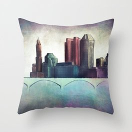 THE OTHER SIDE OF THE TOWN Throw Pillow