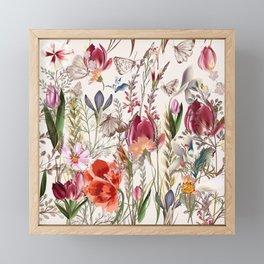 Bright spring field. Romantic pattern Framed Mini Art Print