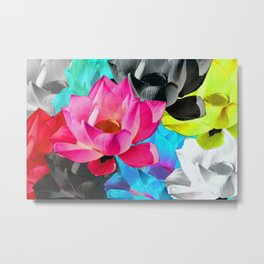 Lotus Pop Metal Print