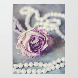 Pearls and Rose Poster