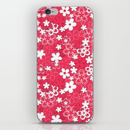 Red and white paper flowers 1 iPhone Skin