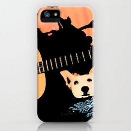 A Man's Two Best Friends iPhone Case