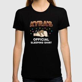 Kyra Name Gift Sleeping Shirt Sleep Napping T-shirt