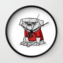 Bulldog from Georgia Wall Clock