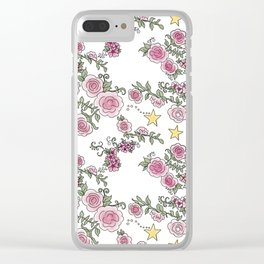 Project 52 | Pale Roses on White Clear iPhone Case