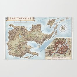 Belthennia - a map of its Independent Territories Rug