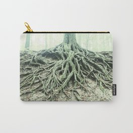 """""""Photography of Nature"""" Roots washed out of Soil at Borzsonyliget in Soft Colors Carry-All Pouch"""