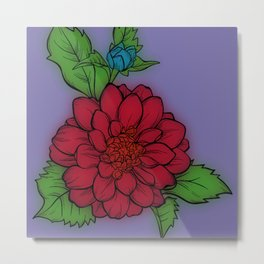 Fun With Coloring Flower Metal Print