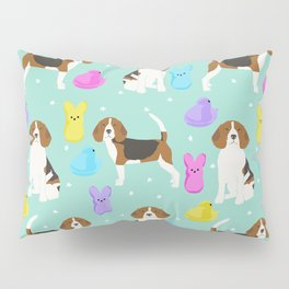 Beagle marshmallow peeps candy spring easter treat tradition for dog lovers Pillow Sham