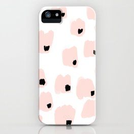 pink and black pattern iPhone Case