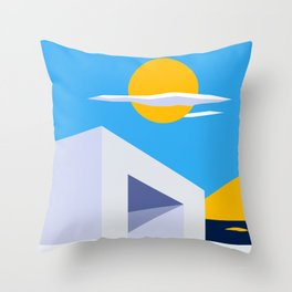 Somewhere by the Sea Throw Pillow