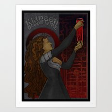Klingon Blood Wine Art Print