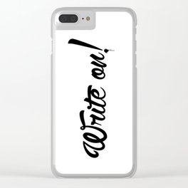 Write On! Clear iPhone Case