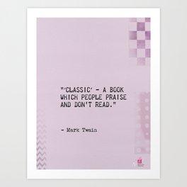 Mark Twain quote 3 Art Print