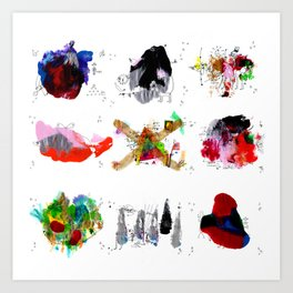 9 abstract rituals Art Print