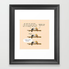 The excuse Framed Art Print