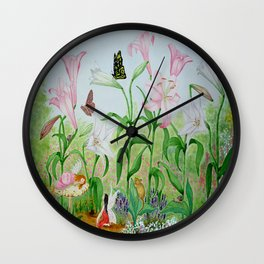 Fairy Garden#1 Wall Clock