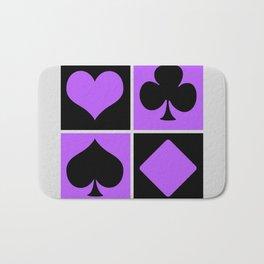 Cards series - Black and purple Bath Mat
