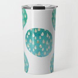 Raindrop Circles Pattern Travel Mug