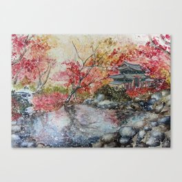 Fall (Watercolor painting) Canvas Print