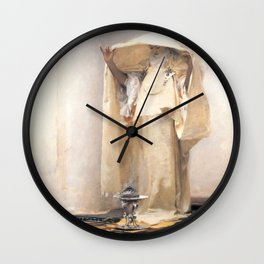 Fumée d'Ambre Gris - Smoke of Ambergris by John Singer Sargent Wall Clock