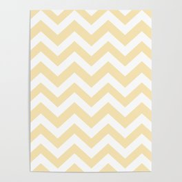 Banana Mania - pink color - Zigzag Chevron Pattern Poster