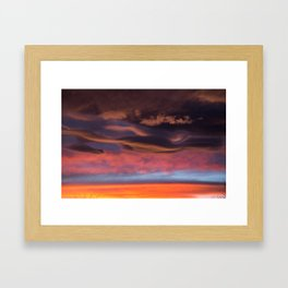 Beautiful Sunset / 1 Framed Art Print
