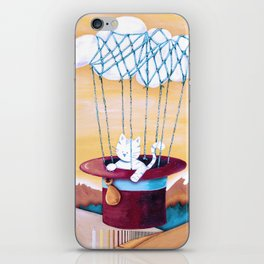 The cat traveling in dreams iPhone Skin